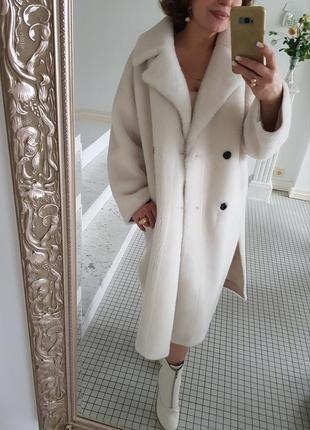 Шуба меховое пальто натуральная овчина10 фото