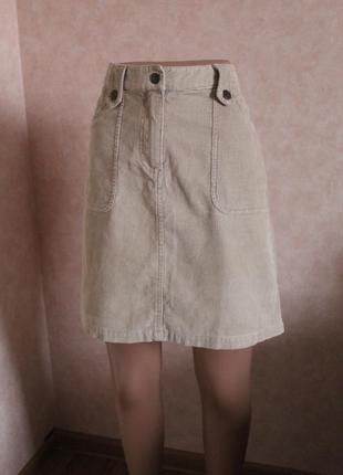 Трендовая юбка,вельвет,стильная вещь