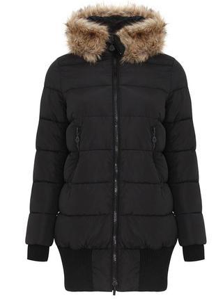 Черная куртка/пуховик oodji