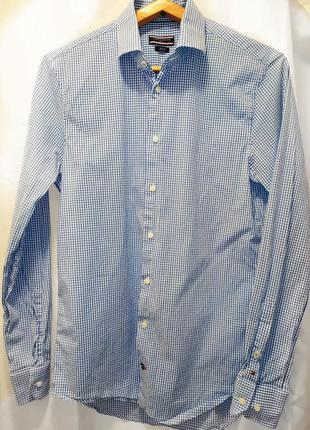 Tommy hilfiger  приталенная рубашка размер м