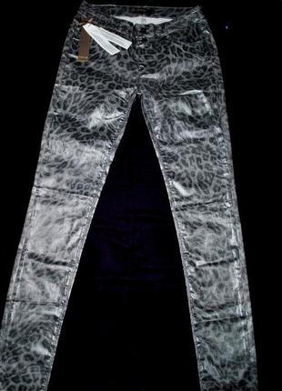 Штаны джинсы m-l серые леопард крутые роскошные танцы выступление