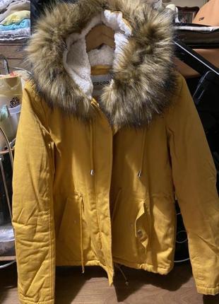 Куртка парка мех пальто