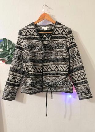 Пиджак в этническом стиле от h&m