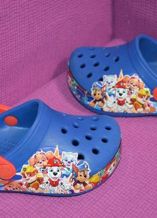 Фирменные яркие кроксы crocs размер c 6
