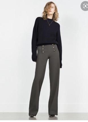 Широкие брюки zara