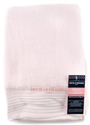 Хлопковое банное полотенце ines de la fressange розовое (франция)