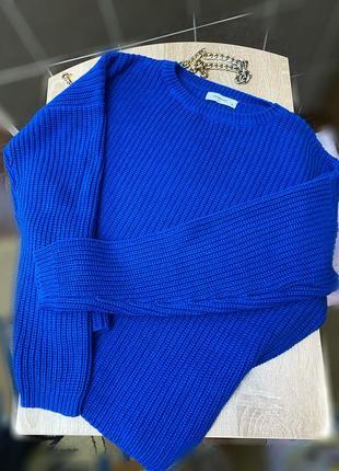 Шикарный ультрамариновый свитер reserved 😍