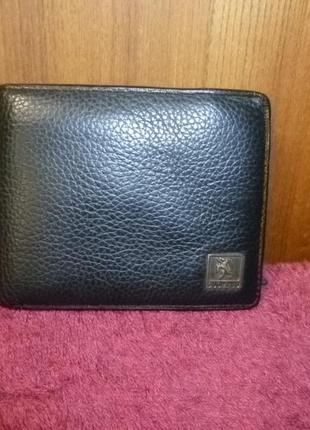 Кожаный натуральный кошелек портмоне diomilu мужской с монетницей