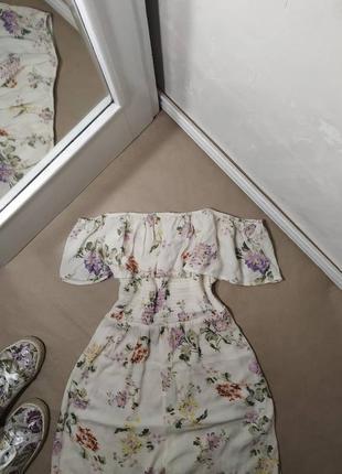Белый ромпер primark комбинезон в цветочный принт