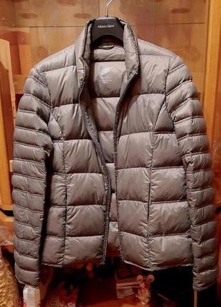 Обалденная,мегалегкая, расшитая бисером пуховая деми-куртка maddison down collection