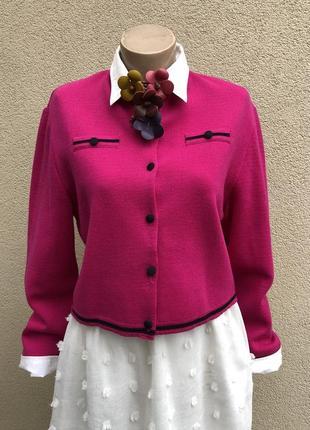 Винтаж,шерсть100%,яркий,трикотаж жакет,пиджак,кофта,кардиган