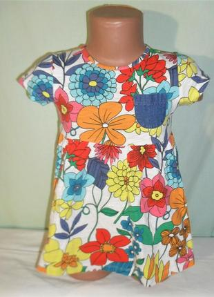 Платье - туника на 2-3годика