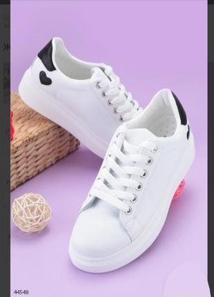 Стильные белые кроссовки кеды криперы на платформе толстой подошве хит модные