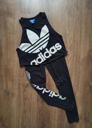 Adidas спортивные лосины леггинсы размер хс-с