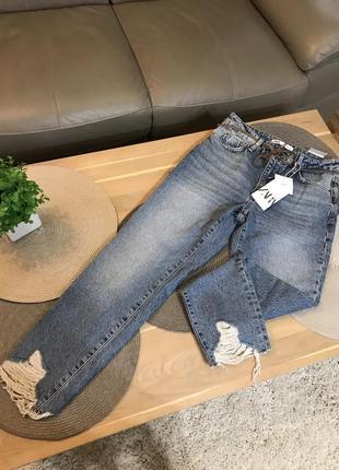 Скидка!!очень крутые mom jeans джинсы от zara оригинал