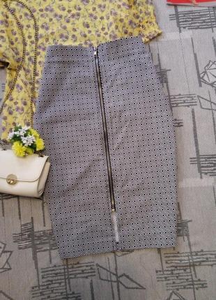 Стильная комфортная юбка карандаш на молнии, atm, размер 10-12