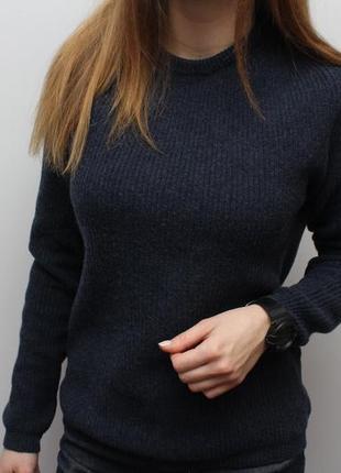 Брендовый оригинальный шерстчной свитер armani jeans