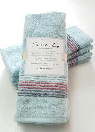 Кухонные махровые полотенца в наборе 4 штуки