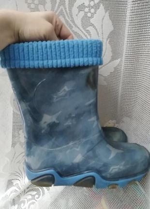 Demar резиновые сапоги 32-33 размер мальчику