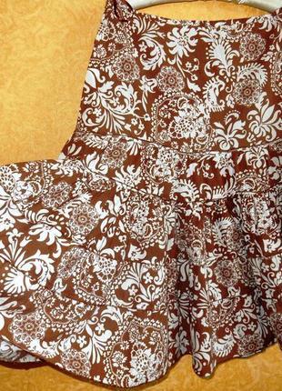 ?пышная юбка летняя в цветах/ботал/самые низкие цены??