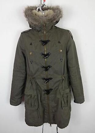 Asos куртка парка пальто  зелёный хаки