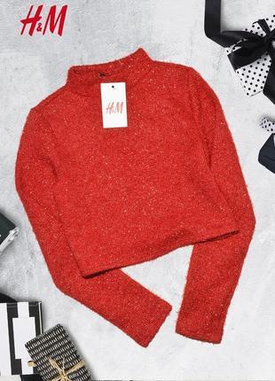 Укороченный свитер с люрексом divided by h&m