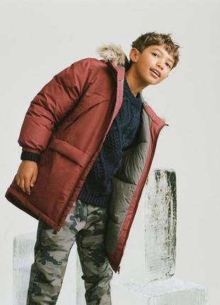 Удлиненная теплая куртка на парня zara 134.152