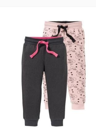 Спортивные штаны на девочку с начесом фирмы lupilu