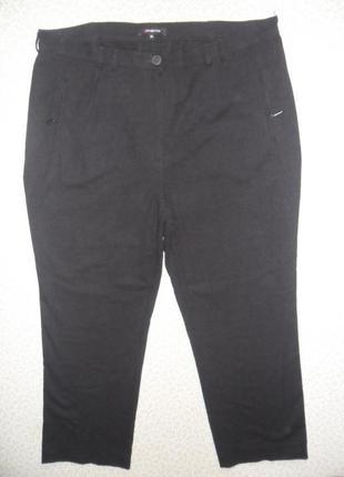 Стильные теплые термо гладкий флис черные брюки женские 52-54р стретч