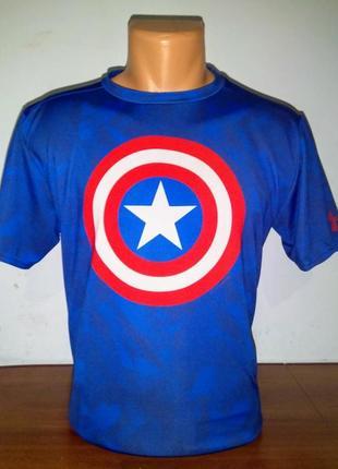 Компрессионая футболка under armour capitan america compression marvel shirt