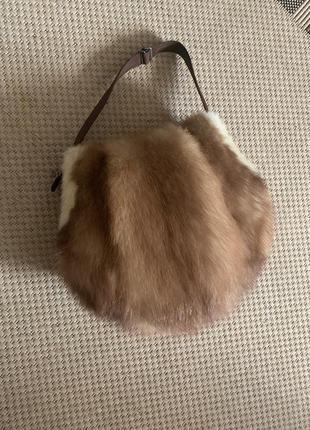 Сумка муфта клатч натуральный мех соболь не норка винтаж