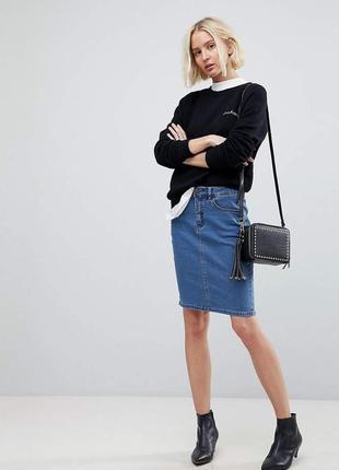 Крутая юбка карандаш