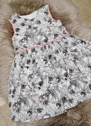 Хлопковое платье matalan на 5-6 лет