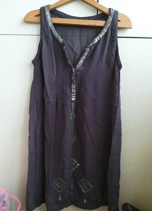 Платье туника вышивка стразы