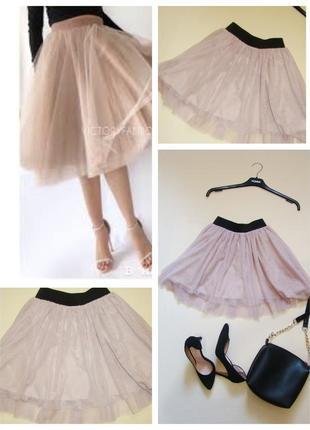 Нюдовая фатиновая юбка пачка шопенка pimkie xs-s