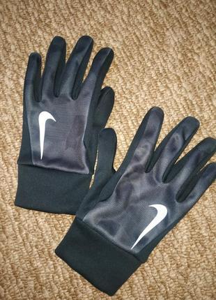Перчатки спортивные nike, р.м, утеплённые, на флисе