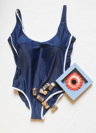 Синий сдельный купальник от giani feroti, размер xxl-xxxl