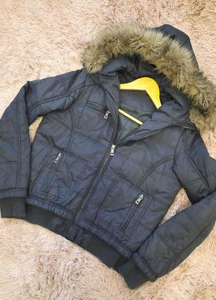 Курточка короткая куртка деми clockhouse s-m
