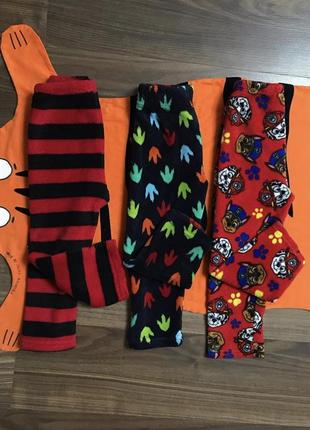 Тёплые пижамные штаны на мальчика 3-4 года, рост 98-104