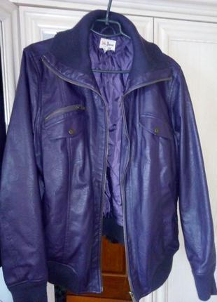 Куртка курточка большого размера кожаная