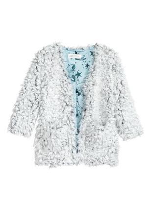 Меховая куртка болеро жакет блейзер пиджак 3-4 года h&m