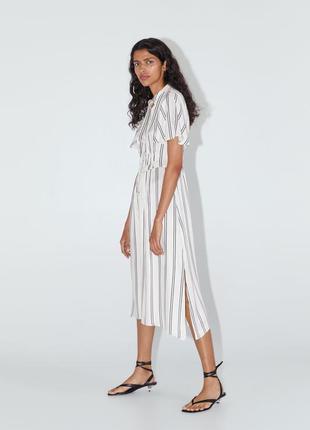 Zara платье - рубашка в полоску, s, m, l