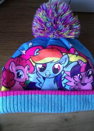 Суперкрутая мультяшная брендовая шапка бини с помпоном радужная шапочка