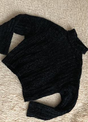 Шикарный велюровый свитер new look