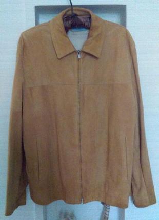 Кожаный замшевый жакет пиджак на молнии   бренда люкс farhi
