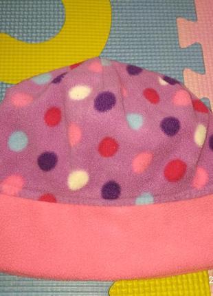 Флисовая шапочка 1-3года, miniclub