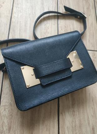 Натуральная кожаная сумка сумочка клатч