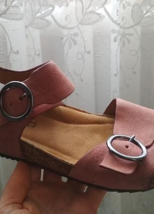 Мега удобные кожаные босоножки, босоніжки 38-38.5р hotter