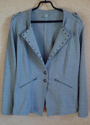 Трикотажный пиджак блайзер 58/60 размера