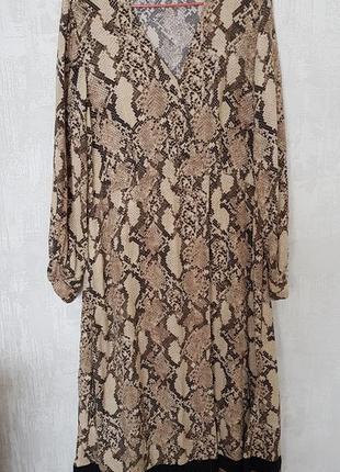Платье миди с принтом h&m